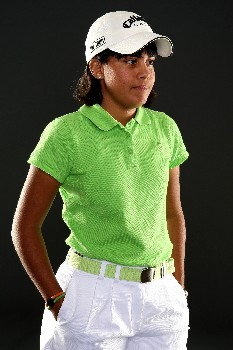 PORTLAND, OR - AUGUST 22:  Julieta Granada  poses for a portrait during the LPGA Safeway Classic at the Columbia Edgewater Country Club on August 22, 2007 in Portland, Oregon.  (Photo by Jonathan Ferrey/Getty Images)