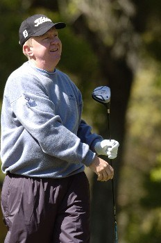 Billy Mayfair on the eighth tee during the third round of the MCI Heritage at Harbor Town Golf Links at Hilton Head Island, SC, April 16, 2005.Photo by Marc Feldman/WireImage.com