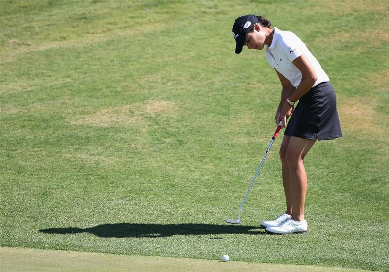 PHOENIX - MARCH 28:  Lorena Ochoa of Mexico putts onto the third hole green during the third round of the J Golf Phoenix LPGA International golf tournament at Papago Golf Course on March 28, 2009 in Phoenix, Arizona.  (Photo by Christian Petersen/Getty Images)