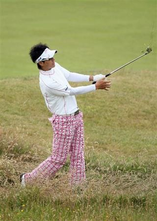 TURNBERRY, SCOTLAND - JULY 12:  Ryo Ishikawa of Japan in action during the practice round of the 138th Open Championship on July 12, 2009 on the Ailsa Course, Turnberry Golf Club, Turnberry, Scotland.  (Photo by David Cannon/Getty Images)