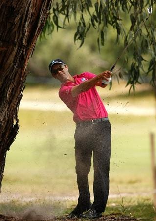 MELBOURNE, AUSTRALIA - NOVEMBER 29:  Anthony Summers of Australia hits a shot on the sixth hole during the third round of the 2008 Australian Masters at Huntingdale Golf Club on November 29, 2008 in Melbourne, Australia  (Photo by Lucas Dawson/Getty Images)