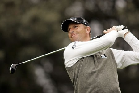 Soren Hansen during the first round of the 2005 Open De Madrid at the Campo De Golf on October 13, 2005Photo by Pete Fontaine/WireImage.com