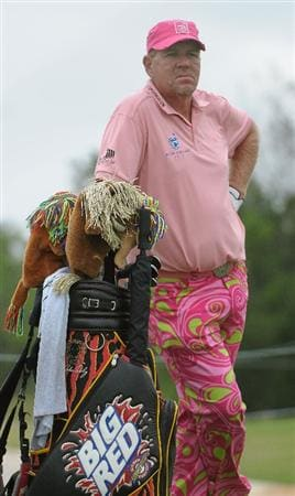 SAN ANTONIO, TX- MAY 13:  John Daly on the 3rd hole during the first round of the Valero Texas Open at the TPC San Antonio on May 13, 2010 in San Antonio, Texas. (Photo by Marc Feldman/Getty Images)