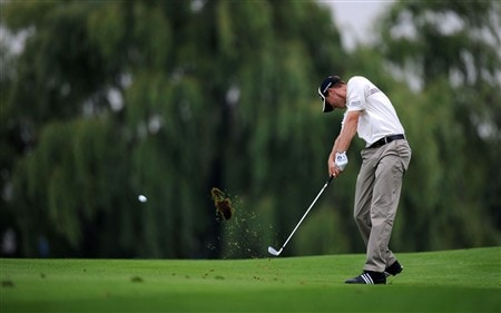 OAKVILLE, ON - JULY 26:  Sean O'Hair makes an approach shot on the first hole during the third round of the RBC Canadian Open at the Glen Abbey Golf Club on July 26, 2008 in Oakville, Ontario, Canada.  (Photo by Robert Laberge/Getty Images)