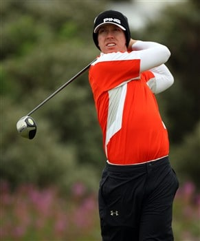 SOUTHPORT, UNITED KINGDOM - JULY 18:  Hunter Mahan of USA tees off on the 2nd during the second round of the 137th Open Championship on July 18, 2008 at Royal Birkdale Golf Club, Southport, England.  (Photo by Ross Kinnaird/Getty Images)
