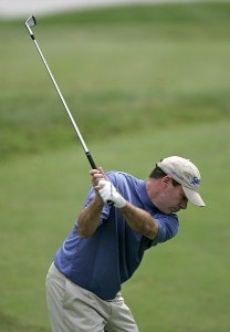 John Huston during the first round of the Booz Allen Classic at TPC Avenel in Potomac, Maryland, on June 22, 2006.Photo by Hunter Martin/WireImage.com