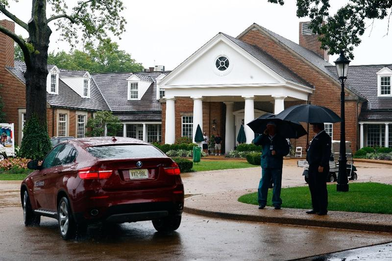 ST. LOUIS - SEPTEMBER 04:  :  A general view of the clubhouse as rain postpones the first round of the BMW Championship on September 4, 2008 at Bellerive Country Club in St. Louis, Missouri.  (Photo by Jamie Squire/Getty Images)