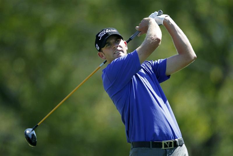CANONSBURG, PA - SEPTEMBER 02:  Brendan Steele watches his tee shot on the eighth hole during the first round of the Mylan Classic presented by CONSOL Energy at Southpointe Golf Club on September 2, 2010 in Canonsburg, Pennsilvania.  (Photo by Gregory Shamus/Getty Images)