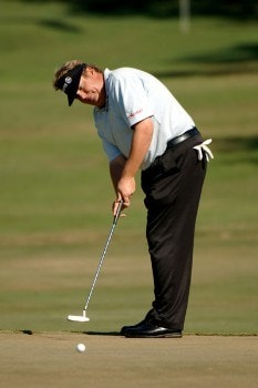 Tim Herron putts on the eighth green  during the second round of the 2005 Chrysler Championship at the Westin Innsbrook Resort, Copperhead Course in Palm Harbor, Florida on October 28, 2005.Photo by Al Messerschmidt/WireImage.com