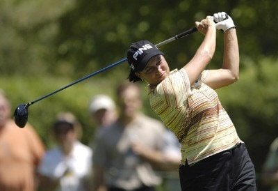 Sherri Steinhauer during the continuation of the second round of the Jamie Farr Owens Corning Classic at Highland Meadows Golf Club in Sylvania, Ohio, on Saturday, July 15, 2006.Photo by Steve Levin/WireImage.com