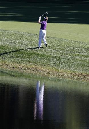 POTOMAC, MD - OCTOBER 08:  Bernhard Langer of Germany hits his second shot on the fourth hole during the second round of the Constellation Energy Senior Players Championship held at TPC Potomac at Avenel Farm on October 8, 2010 in Potomac, Maryland.  (Photo by Michael Cohen/Getty Images)