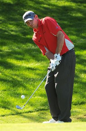 SCOTTSDALE AZ - OCTOBER 25: Tommy Gainey hits a chip shot to the 7th green during the third round of  the Fry's.Com Open held at Grayhawk Golf Club on October 25, 2008 in Scottsdale, Arizona. (Photo by Marc Feldman/Getty Images)