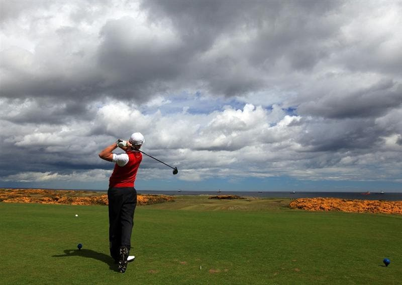 ABERDEEN, SCOTLAND - MAY 12:  Tom Lewis of England during the 2011 Walker Cup Squad practice session at Royal Aberdeen Golf Club on May 12, 2011 in Aberdeen, Scotland.  (Photo by David Cannon/Getty Images)