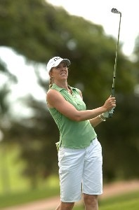 Jill McGill in action during the first round of the inaugural 2006 Fields Open in Hawaii at Ko Olina Golf Club in Kapolei, Hawaii February 22, 2006.Photo by Steve Grayson/WireImage.com