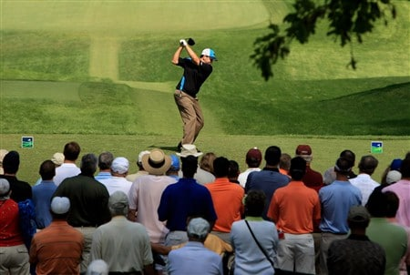 CHARLOTTE, NC - MAY 02:  Ben Curtis tee's off at the 4th during the second round of the Wachovia Championship at Quail Hollow Country Club on May 2, 2008 Charlotte, North Carolina.  (Photo by Richard Heathcote/Getty Images)