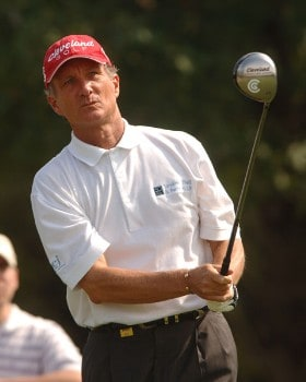 Gary Koch hits from the 11th tee during the final round of the Champion's TOUR 2005 SBC Championship at Oak Hill Country Club in San Antonio, Texas October 23, 2005.Photo by Steve Grayson/WireImage.com