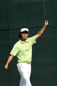 Kevin Na birdies the par three 9th hole during the third round of the 2006 Mark Christopher Charity Classic at the Empire Lake Golf Club in Rancho Cucamonga, California on Saturday, October7, 2006 Nationwide Tour - 2006 Mark Christopher Charity Classic - Third Round
