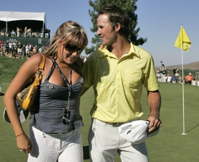 Will MacKenzie and girlfriend, Alli Spencer after the fourth and final round of the Reno Tahoe Open held at Montreux Golf and Country Club in Reno, Nevada, on August 27, 2006.Photo by Stan Badz/PGA TOUR/WireImage.com
