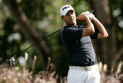 Arjun Atwal of India hits from the 12th tee during the fourth round of the Movistar Panama Championship at Club de Golf de Panama January 27, 2008 in Panama City, Panama. Nationwide Tour - 2008 Movistar Panama Championship - Final RoundPhoto by Stan Badz/PGA TOUR/Getty Images