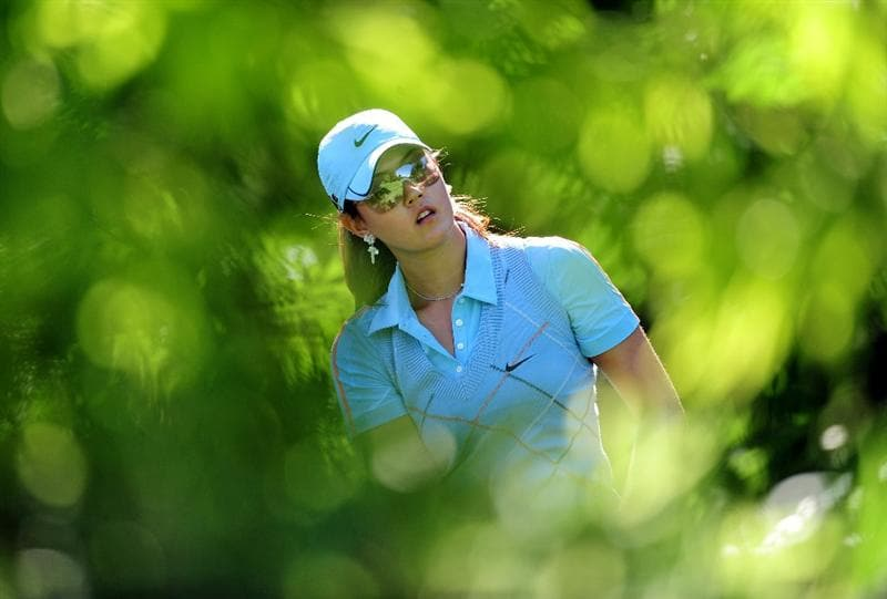 EVIAN-LES-BAINS, FRANCE - JULY 25:  Michelle Wie of USA in action during the third round of the Evian Masters at the Evian Masters Golf Club on July 25, 2009 in Evian-les-Bains, France.  (Photo by Stuart Franklin/Getty Images)