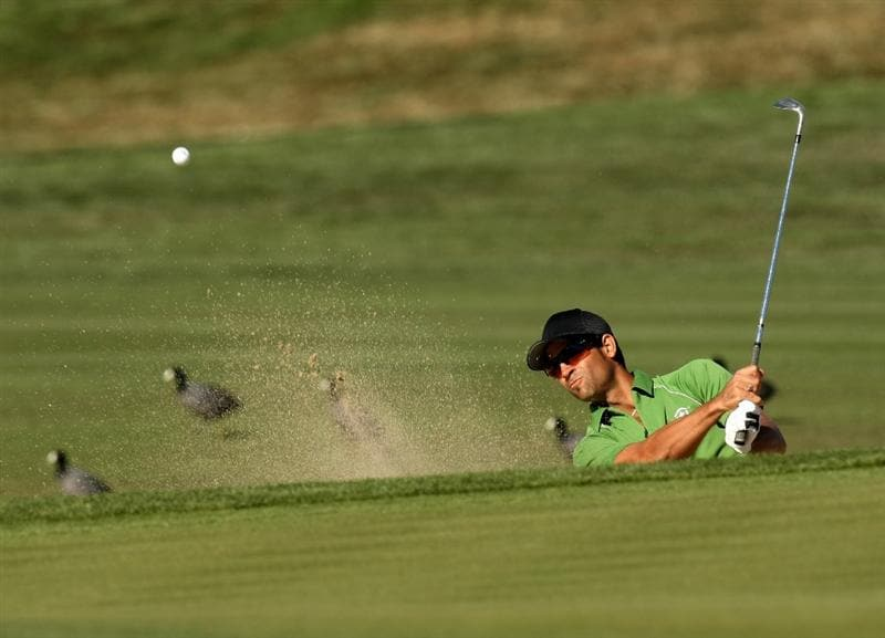 SCOTTSDALE, AZ - FEBRUARY 01:  James Nitties of Australia hits out of a bunker on the 15th hole during the final round of the FBR Open on February 1, 2009 at TPC Scottsdale in Scottsdale, Arizona.  (Photo by Stephen Dunn/Getty Images)