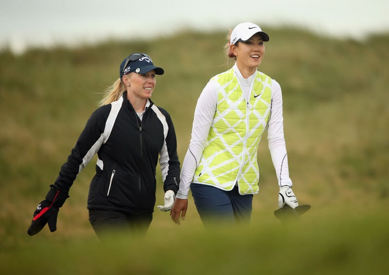 Morgan Pressel and Michelle Wie