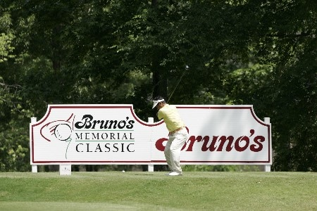Hajime Meshiai at the 18th tee box during the first round of the Bruno's Memorial Classic, May 21,2005, held at Greystone GC, Birmingham, Al.Photo by Stan Badz/PGA TOUR/WireImage.com