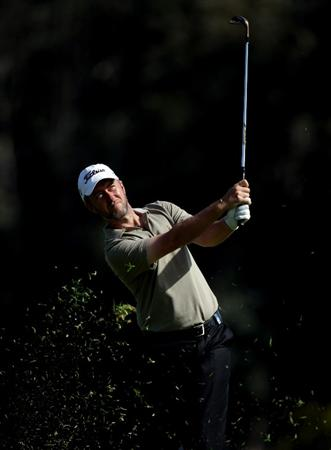 MALAGA, SPAIN - MARCH 26:  Mark Foster of England during the third round of the Open de Andalucia at the Parador de Malaga Golf Course on March 26, 2011 in Malaga, Spain.  (Photo by Ross Kinnaird/Getty Images)
