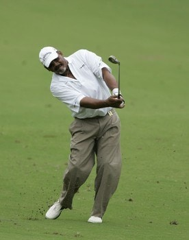 Jim Thorpe in action during the third round of the Greater Hickory Classic at Rock Barn on the Jones Course  in Conover, North Carolina on October 9, 2005.Photo by Michael Cohen/WireImage.com