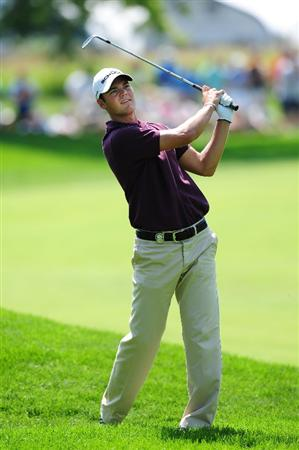 CHASKA, MN - AUGUST 14:  Martin Kaymer of Germany hits a shot on the second hole during the second round of the 91st PGA Championship at Hazeltine National Golf Club on August 14, 2009 in Chaska, Minnesota.  (Photo by Stuart Franklin/Getty Images)
