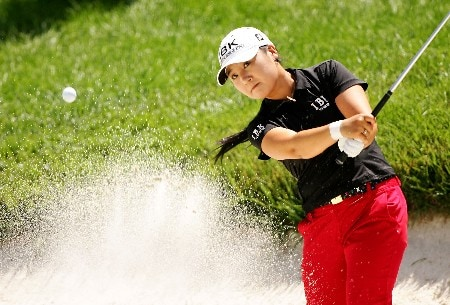 NEW ROCHELLE, NY - JULY 21:  Jeong Jang of South Korea hits a shot from the bunker on the 18th hole during the third round of the HSBC Women's World Match Play at Wykagyl Country Club on July 21, 2007 in New Rochelle, New York. (Photo by Sam Greenwood/Getty Images)
