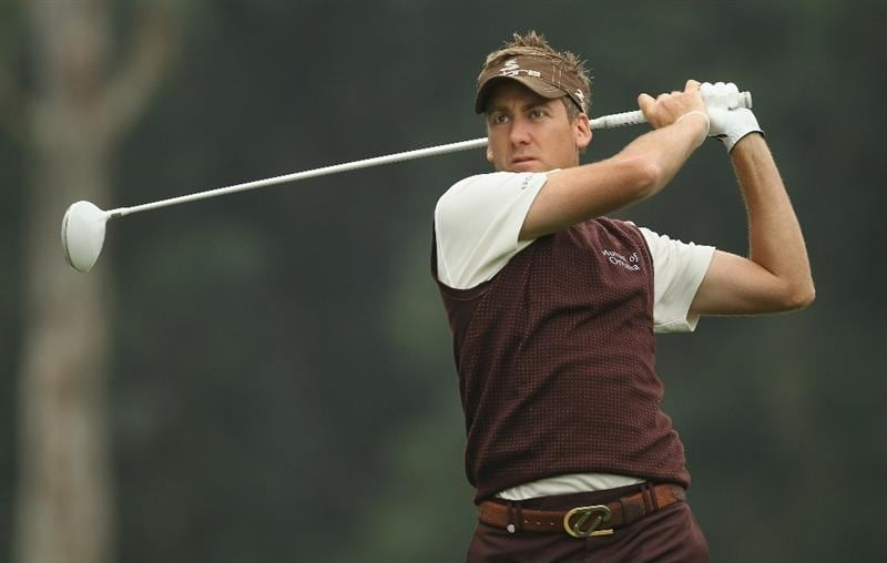 HONG KONG - NOVEMBER 18:  Ian Poulter of England looks on after playing a tee shot during day one of the UBS Hong Kong Open at The Hong Kong Golf Club on November 18, 2010 in Hong Kong, Hong Kong.  (Photo by Ian Walton/Getty Images)