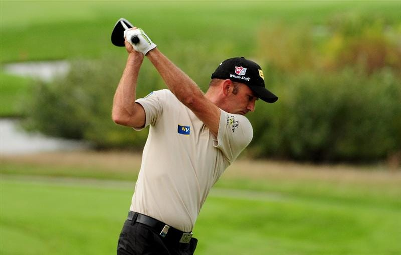 VIENNA, AUSTRIA - SEPTEMBER 16:  Markus Brier of Austria in action during the Pro-am for the Austrian Golf Open at Fontana Golf Club on September 16, 2009 in Vienna, Austria.  (Photo by Richard Heathcote/Getty Images)