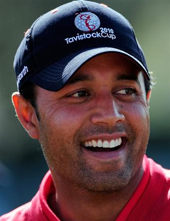 ORLANDO, FL - MARCH 22:  Arjun Atwal of India smiles during the first day's play in the 2010 Tavistock Cup at Isleworth Golf and Country Club on March 22, 2010 in Orlando, Florida.  (Photo by Sam Greenwood/Getty Images)