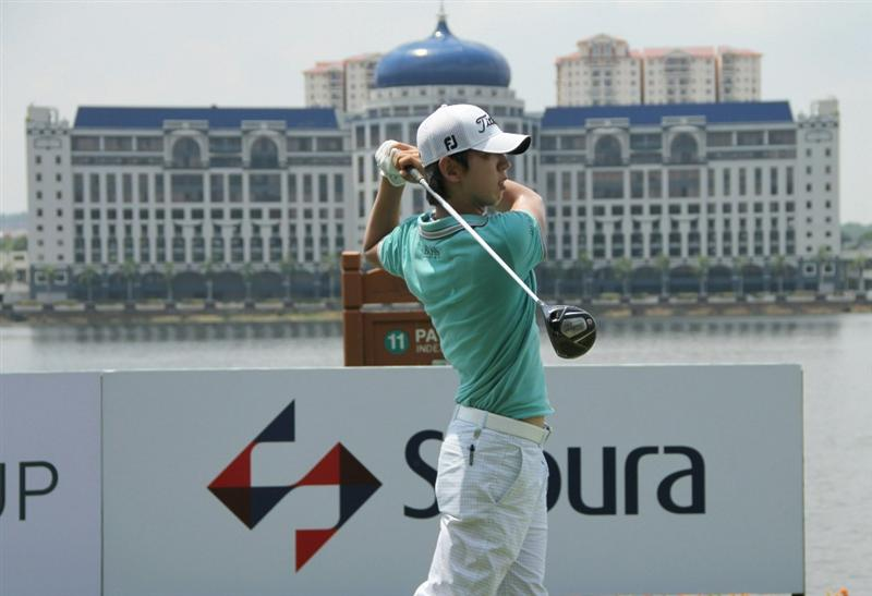 KUALA LUMPUR, MALAYSIA - OCTOBER 28: Noh Seung-Yul of South Korea tees off on the 11th hole during day one of the CIMB Asia Pacific Classic at The MINES Resort & Golf Club on October 28, 2010 in Kuala Lumpur, Malaysia. (Photo by Stanley Chou/Getty Images)
