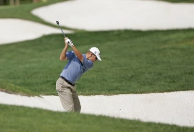 Garrett Willis competes in the first round of the B.C. Open held on the Atunyote course at Turning Stone Resort in Vernon, New York, on July 20, 2006.