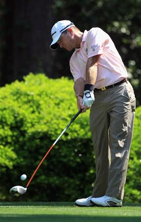 HILTON HEAD ISLAND, SC - APRIL 21:  Scott Verplank hits his tee shot on the 12th hole during the first round of The Heritage at Harbour Town Golf Links on April 21, 2011 in Hilton Head Island, South Carolina.  (Photo by Streeter Lecka/Getty Images)