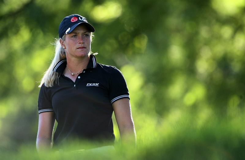 GUADALAJARA, MX - NOVEMBER 13: Suzann Pettersen of Norway stands on the 17th tee during the first round of the Lorena Ochoa Invitational at Guadalajara Country Club on November 13, 2008 in Guadalajara, Mexico. (Photo by Hunter Martin/Getty Images)