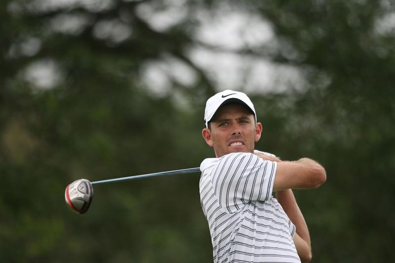 DORAL, FL - MARCH 12:  Charl Schwartzel of South Africa tees off on the fifth tee box during round two of the 2010 WGC-CA Championship at the TPC Blue Monster at Doral on March 12, 2010 in Doral, Florida.  (Photo by Marc Serota/Getty Images)