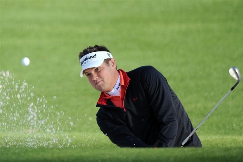 AUGUSTA, GA - APRIL 07:  Jeff Overton hits from a bunker on the second hole during the first round of the 2011 Masters Tournament at Augusta National Golf Club on April 7, 2011 in Augusta, Georgia.  (Photo by Harry How/Getty Images)