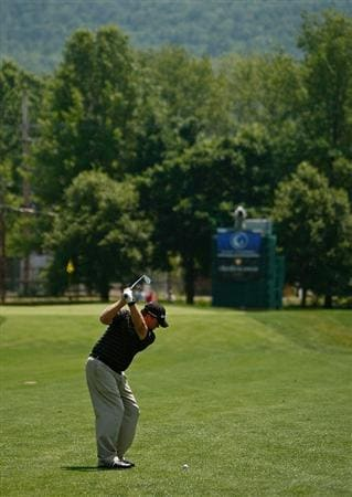 ENDICOTT, NY - JUNE 28:  Lonnie Nielsen hits his approach shot on the 6th hole during the final round of The Dick's Sporting Goods Open at En-Joie Golf Club on Sunday, June 28, 2009 in Endicott, New York  (Photo by Mike Ehrmann/Getty Images)