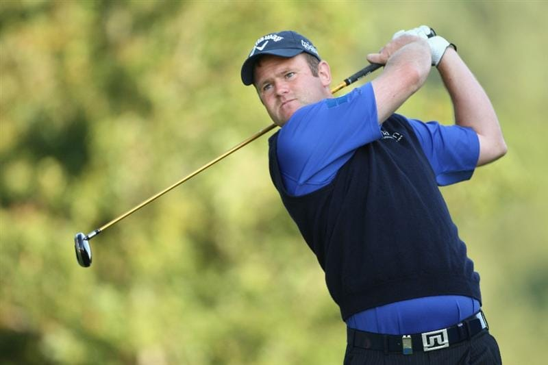 LUSS, SCOTLAND - JULY 09:  Alastair Forsyth of Scotland tees off on the 12th hole during the First Round of The Barclays Scottish Open at Loch Lomond Golf Club on July 09, 2009 in Luss, Scotland.  (Photo by Andrew Redington/Getty Images)