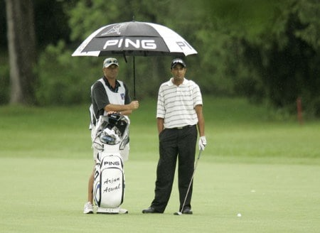 2005 US Bank Championship-Round 1: Arjun Atwal  on the 6th hole during the 1st round of the  2005 US Bank Championship at Brown Deer Park in Milwaukee, Wisconsin on July 21, 2005.Photo by Mike Ehrmann/WireImage.com
