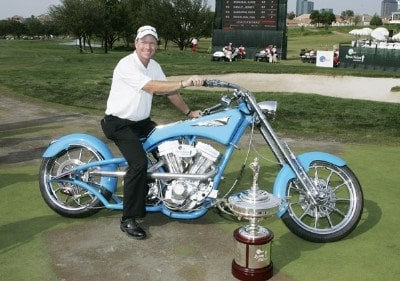 Scott Verplank was awarded an Orange Country Chopper after the fourth and final round of the EDS Byron Nelson Championship held on the Tournament Players Course at TPC Four Seasons Resort Las Colinas in Irving, Texas, on April 29, 2007. Photo by: Stan Badz/PGA TOURPhoto by: Stan Badz/PGA TOUR