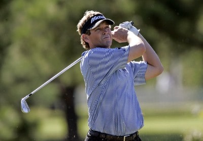 Lee Janzen hits his tee shot on the 2nd hole during the second round of the Southern Farm Bureau Classic at Annandale Golf Club in Madison, Mississippi, on September 29, 2006. PGA TOUR - 2006 Southern Farm Bureau Classic - Second RoundPhoto by Hunter Martin/WireImage.com