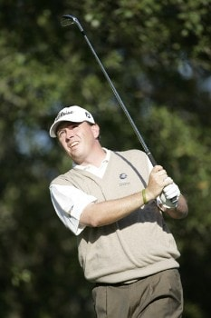 Kris Cox during the first round of the Nationwide Tour Championship held  on the Senator course at Capitol Hill GC in Prattville, Alabama on Thursday, October 27, 2005.Photo by Sam Greenwood/WireImage.com