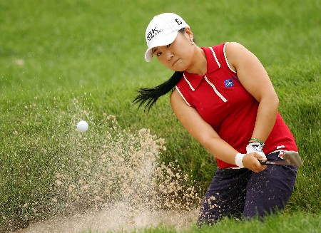 NEW ROCHELLE, NY - JULY 19:  Jeong Jang of South Korea hits from the bunker on the 6th hole during the first round of the HSBC Women's World Match Play at Wykagyl Country Club on July 19, 2007 in New Rochelle, New York. (Photo by Sam Greenwood/Getty Images)