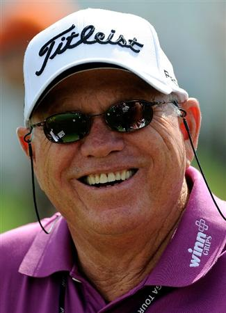 DORAL, FL - MARCH 10:  Golf coach Butch Harmon watches a student during a practice round for the World Golf Championships-CA Championship at the Doral Golf Resort & Spa on March 10, 2009 in Miami, Florida.  (Photo by Sam Greenwood/Getty Images)