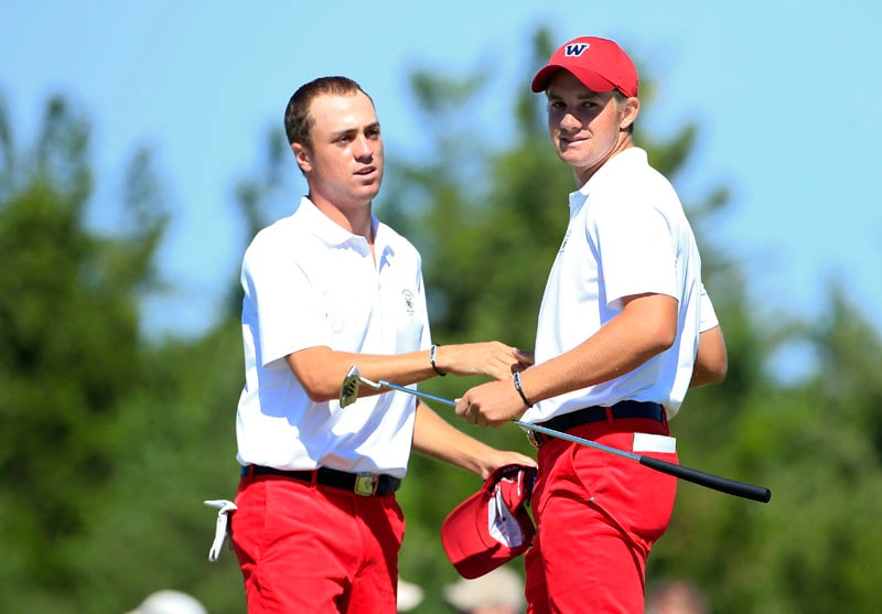 Justin Thomas (L) and Patrick Rodgers (R)