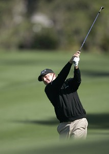 Jason Bohn hitting from the second fairway during the third round of THE PLAYERS Championship held at the TPC Stadium Course in Ponte Vedra Beach, Florida on March 25, 2006.Photo by Chris Condon/PGA TOUR/WireImage.com